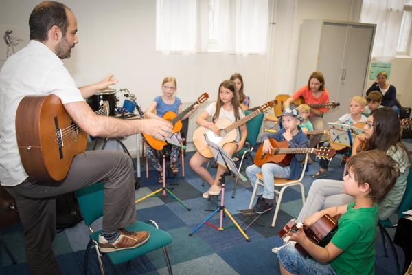 Muziekles in Rotterdam